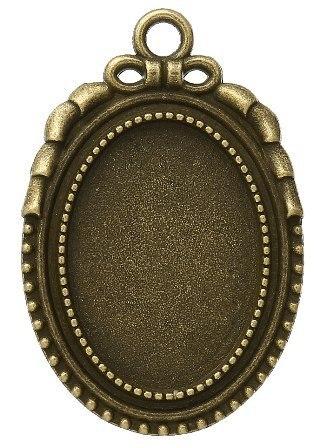 ハンドメイド作品に 楕円形ミール皿フレーム1個入_画像1