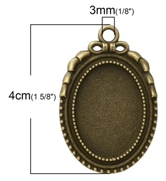 ハンドメイド作品に 楕円形ミール皿フレーム1個入_画像2