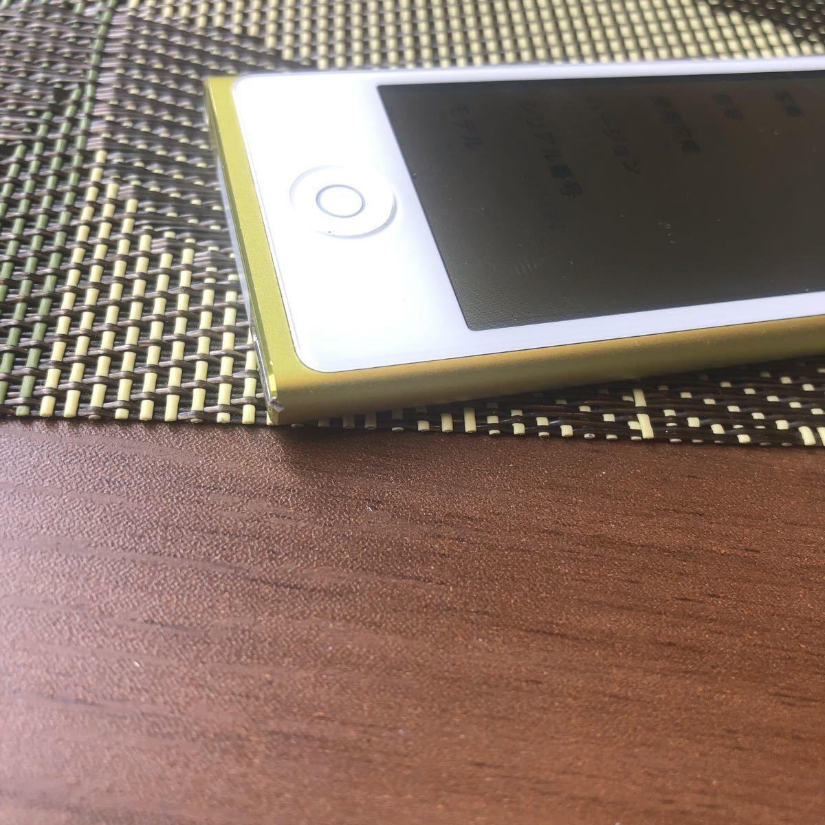iPod7世代 16G yellow 中古 比較的美品 管理番号0317A_画像6