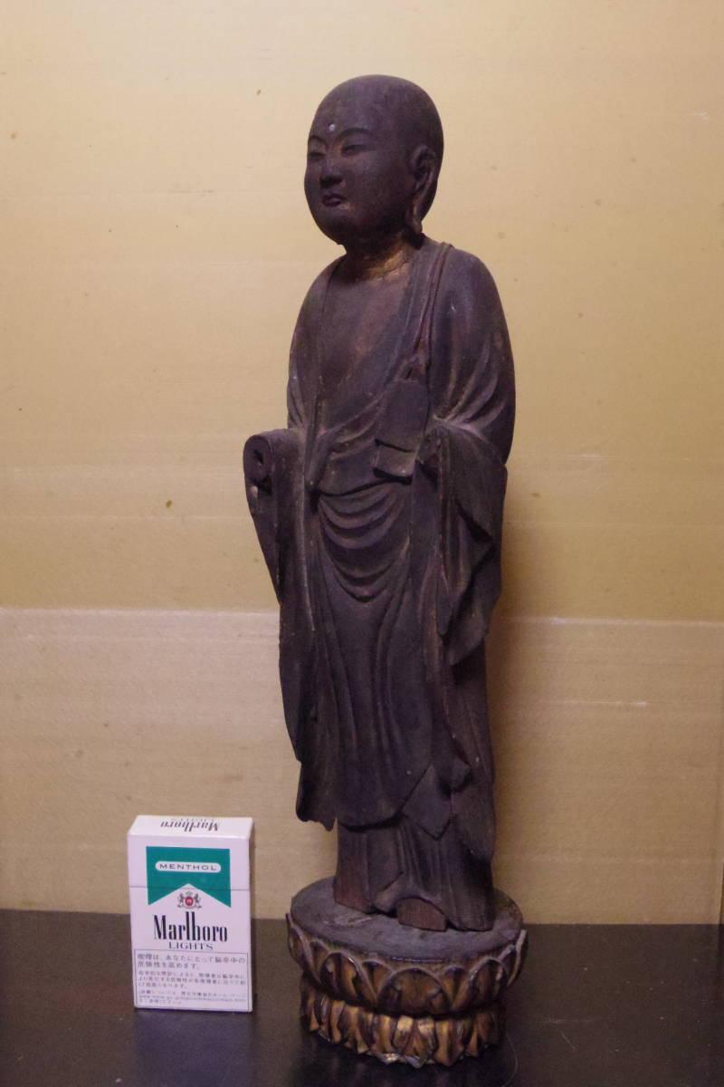 時代仏像 木彫 地蔵菩薩立像 平安時代
