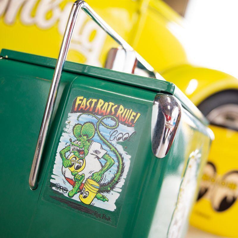 送料85円 Rat Fink x MOON Fast Rat Rule ステッカー MOONEYES ムーンアイズ ラットフィンク [DM233]_画像2
