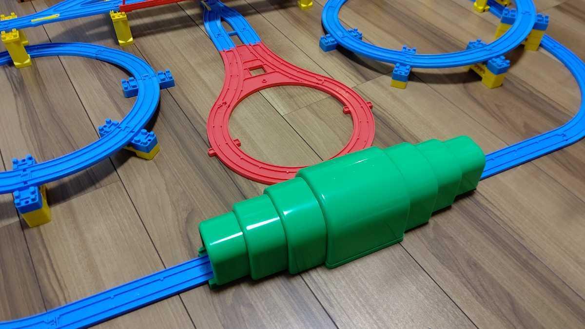 プラレール Wループに、トンネル、Uターンレールなど_画像3