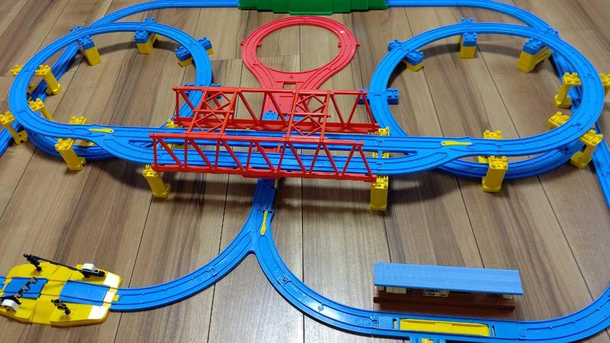 プラレール Wループに、トンネル、Uターンレールなど_画像1