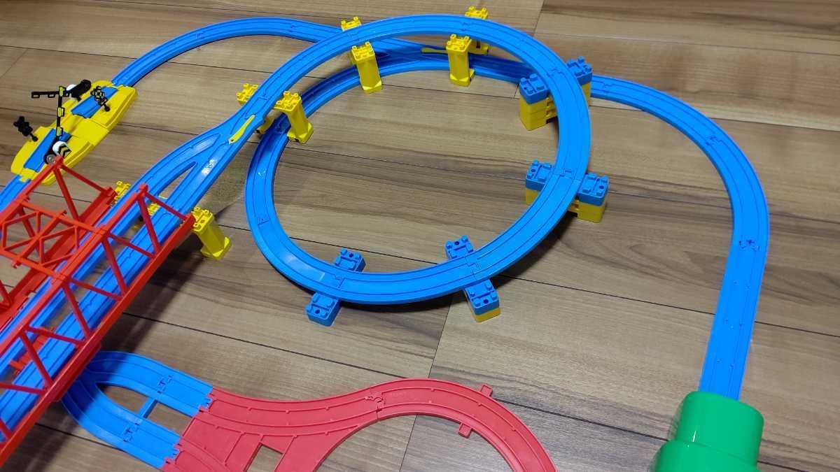 プラレール Wループに、トンネル、Uターンレールなど_画像2