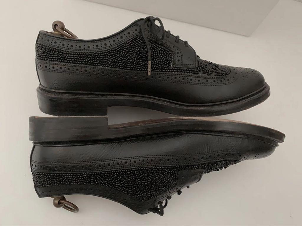 Florsheim by Duckie Brown size91/2D ビーズ ブラック 黒 ウイングチップ 外羽根 レザーシューズ 革靴 フローシャイム ダッキーブラウン_画像7