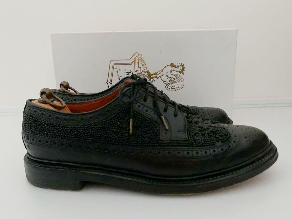 Florsheim by Duckie Brown size91/2D ビーズ ブラック 黒 ウイングチップ 外羽根 レザーシューズ 革靴 フローシャイム ダッキーブラウン_画像6
