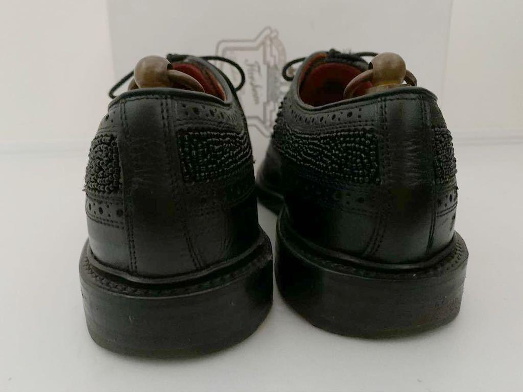 Florsheim by Duckie Brown size91/2D ビーズ ブラック 黒 ウイングチップ 外羽根 レザーシューズ 革靴 フローシャイム ダッキーブラウン_画像5