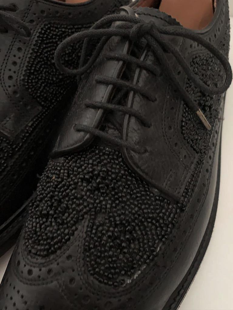 Florsheim by Duckie Brown size91/2D ビーズ ブラック 黒 ウイングチップ 外羽根 レザーシューズ 革靴 フローシャイム ダッキーブラウン_画像3