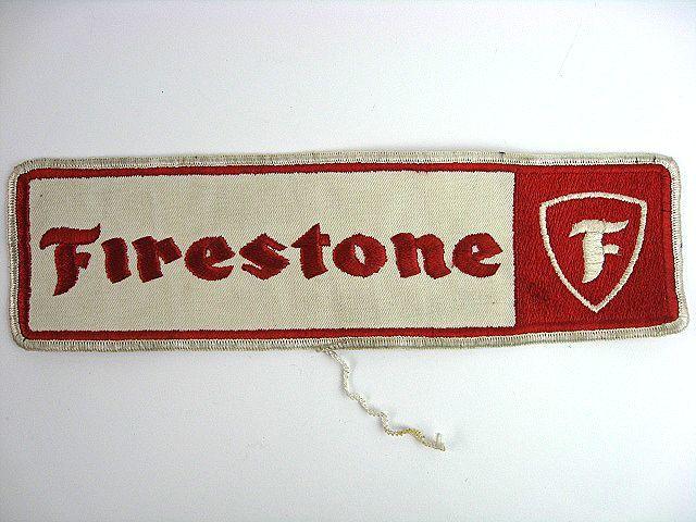 特大! 1960's Firestone ファイヤーストーン ビンテージ 大ワッペン 検 ハーレー ナックル BUCO パン BELL 500TX ショベル HOT ROD トラ_画像1