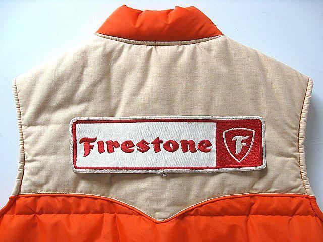 特大! 1960's Firestone ファイヤーストーン ビンテージ 大ワッペン 検 ハーレー ナックル BUCO パン BELL 500TX ショベル HOT ROD トラ_画像6