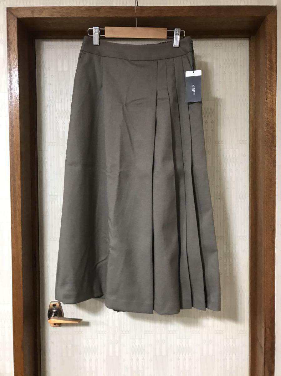 【新品未使用】KBF+ サイドプリーツパンツ カーキ スカート URBAN RESEACH アーバンリサーチ ケービーエフ_画像7
