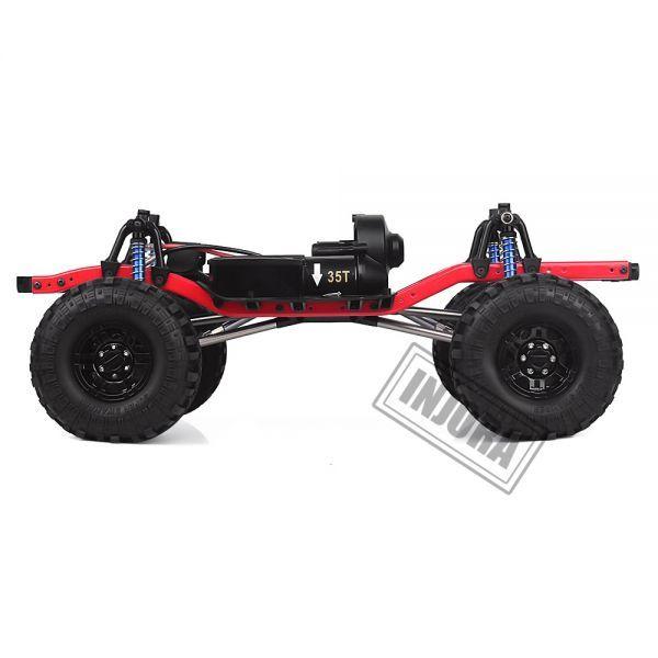 インジョラRCカー275mmホイールベース1/10 RCクローラーカーSCX10 D90 TF2 MST用ホイール付きフレ S204000532701446_画像2