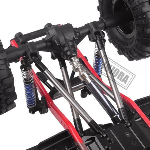 インジョラRCカー275mmホイールベース1/10 RCクローラーカーSCX10 D90 TF2 MST用ホイール付きフレ S204000532701446_画像5