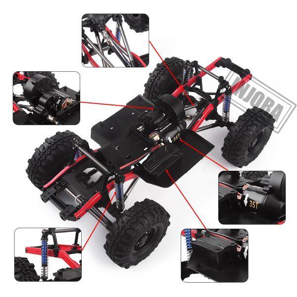 インジョラRCカー275mmホイールベース1/10 RCクローラーカーSCX10 D90 TF2 MST用ホイール付きフレ S204000532701446_画像4