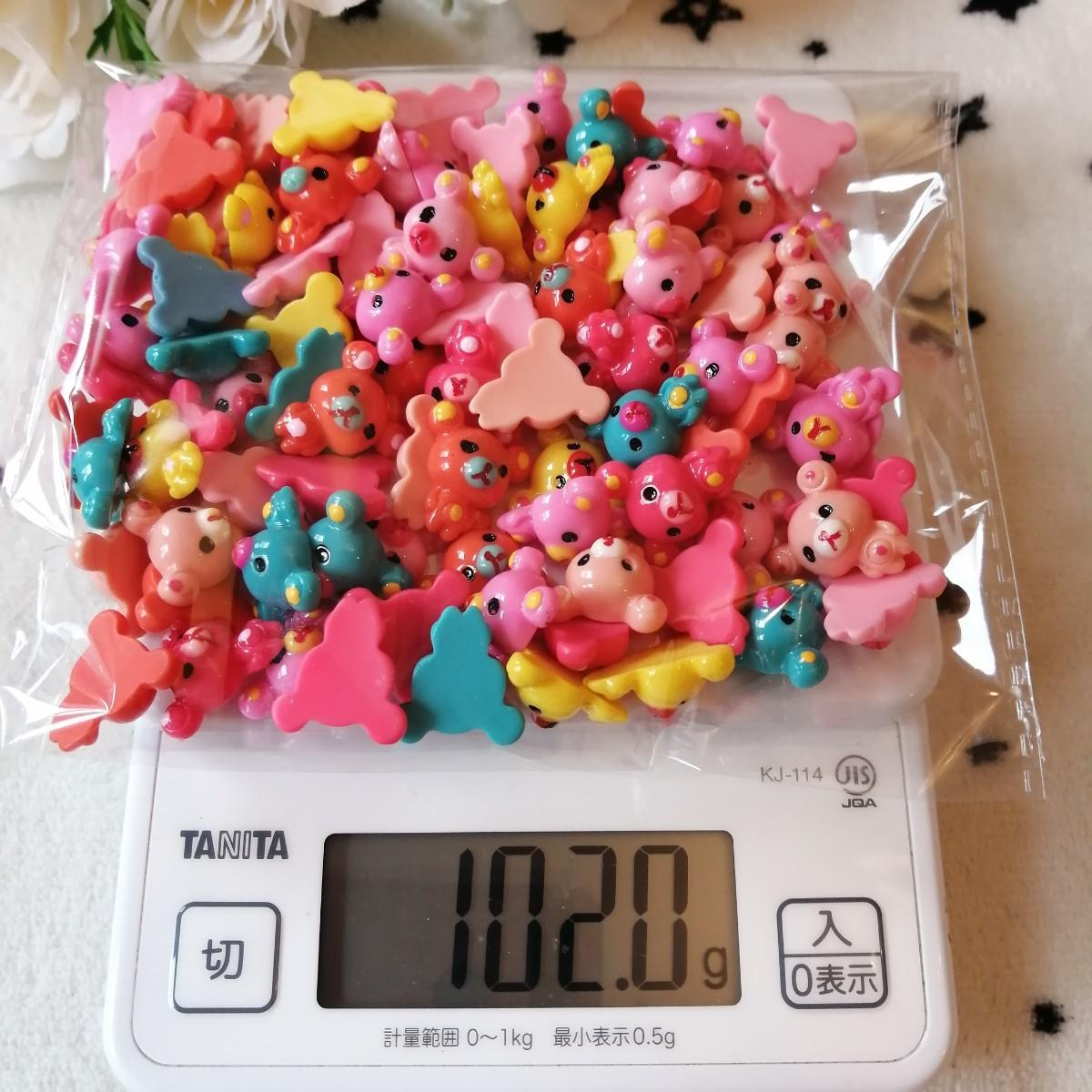 デコパーツ プラパーツ ハンドメイド 手作り   手芸 キャンディ くまちゃん