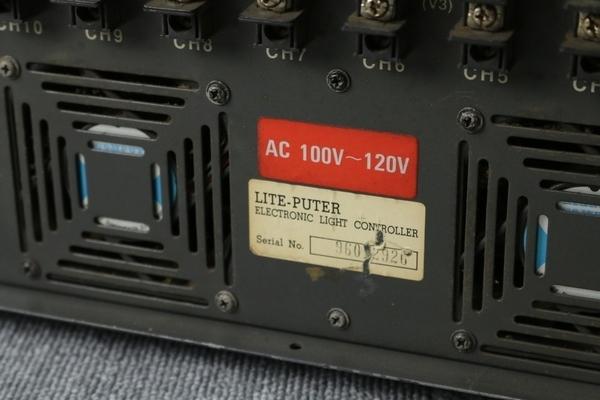 【ライトピューター Lite-Puter】調光ユニット(DX-1220D)舞台照明 舞台演出 現状品 R236_画像3