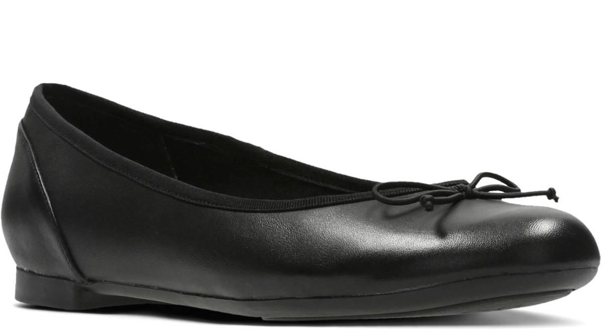 送料無料 Clarks 23cm フラット レザー ブラック 黒 バレエ シューズ ローファー ロー ヒール クラシック パンプス ブーツ サンダル 802_画像5