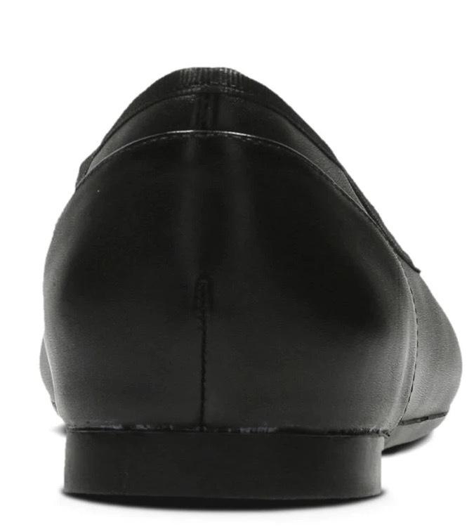 送料無料 Clarks 23cm フラット レザー ブラック 黒 バレエ シューズ ローファー ロー ヒール クラシック パンプス ブーツ サンダル 802_画像8