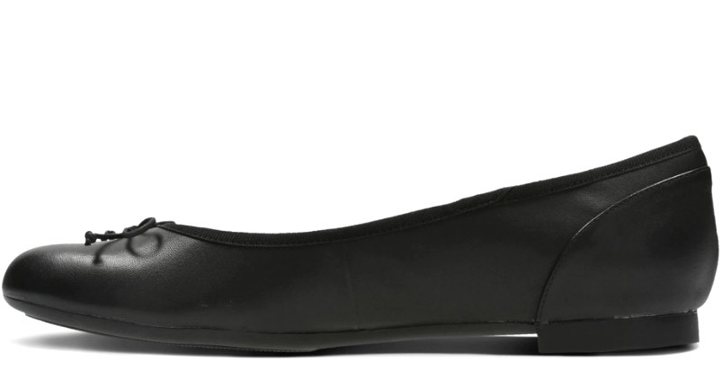 送料無料 Clarks 23cm フラット レザー ブラック 黒 バレエ シューズ ローファー ロー ヒール クラシック パンプス ブーツ サンダル 802_画像9