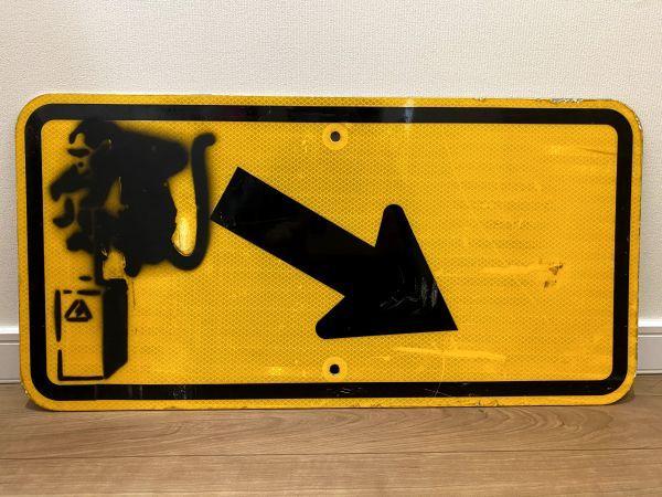 BANKSY 道路標識 バンクシー デトネーターモンキー ストリートアート ステンシル Road Sign 現代アート