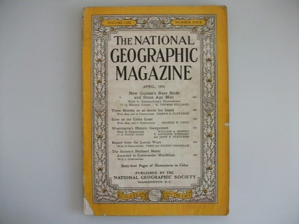 THE NATIONAL GEOGRAPHIC MAGAZINE 1953年 ニューギニア,アイスランド,中国東海岸,ワシントン vbcc