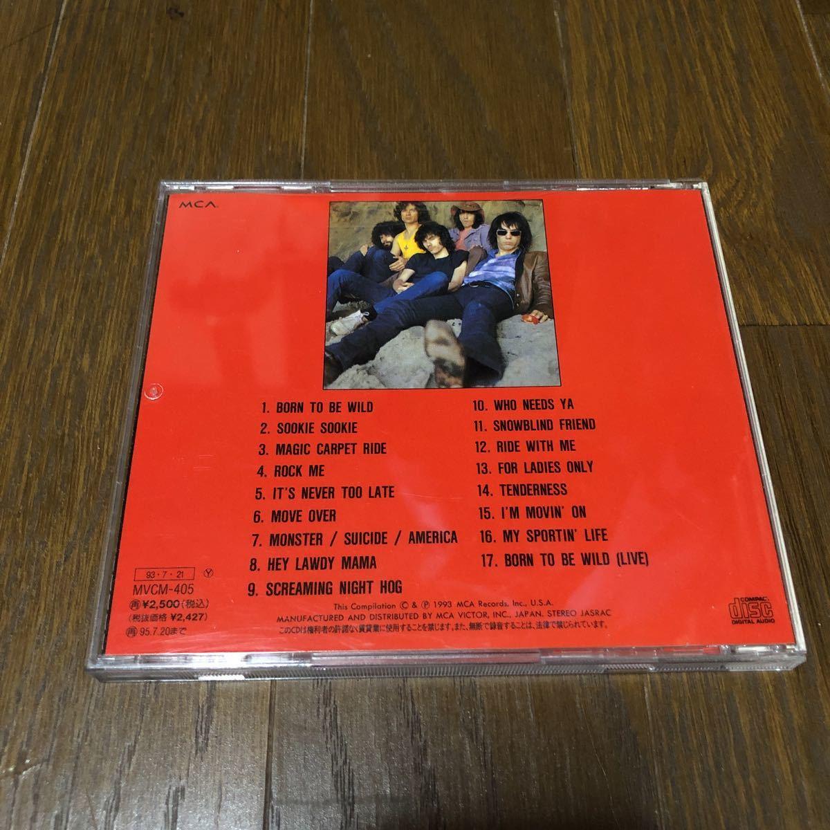 ステッペンウルフ グレイテスト・ヒッツ【ワイルドで行こう】国内盤CD