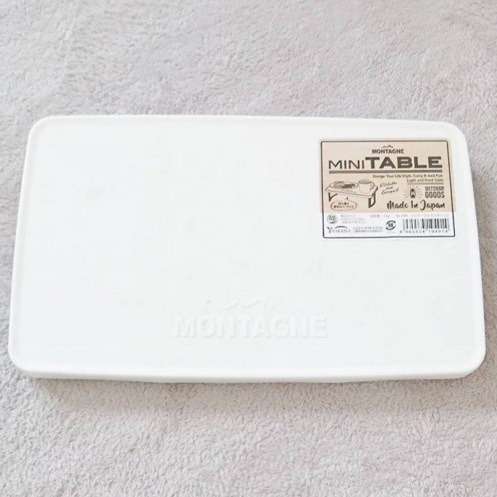 【ソロキャンプ】軽量コンパクトミニテーブル03レッド