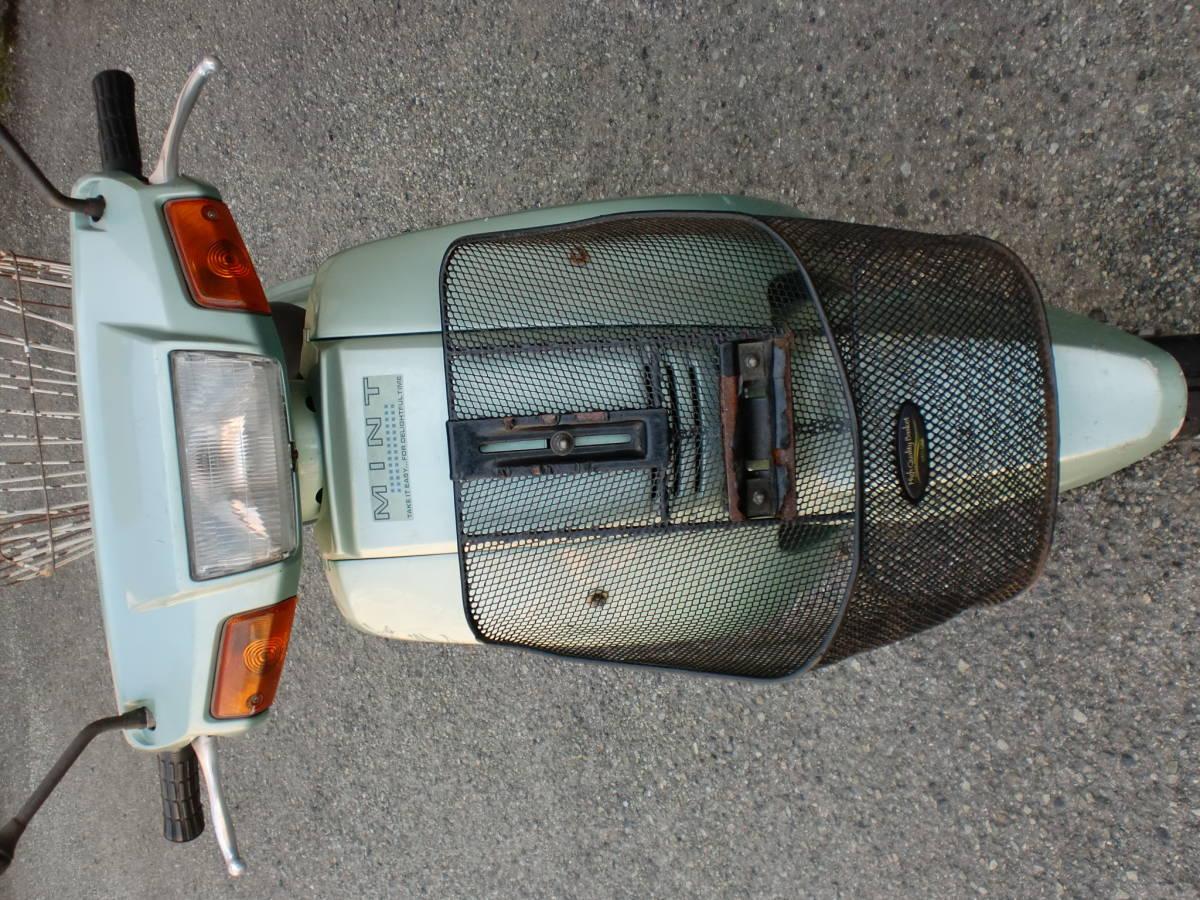 「ヤマハ ミント50(1YU)セル付 実動車 3N ジャンク 旧車」の画像2