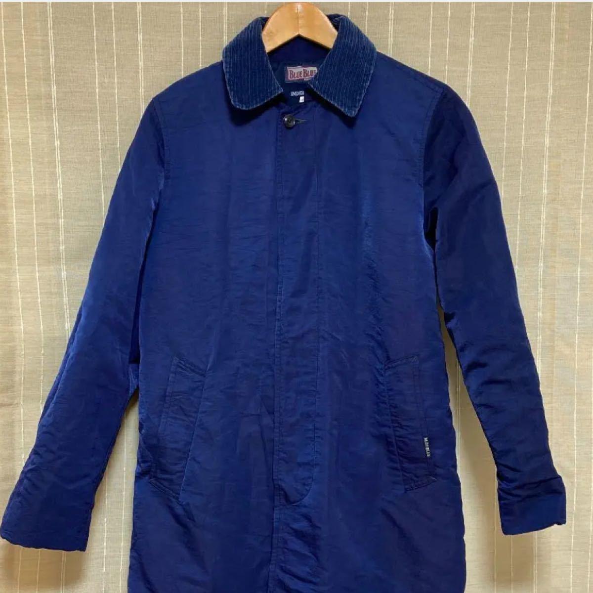 ブルーブルー  blueblue インディゴ染め ロングコート ほぼ新品です