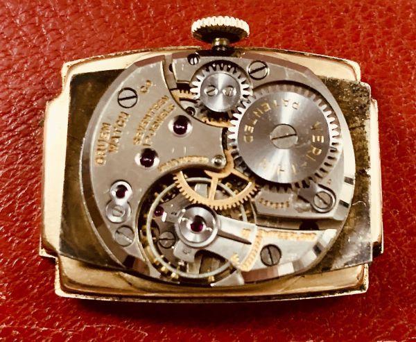 ◆GRUEN◆/グリュエン/CURVEX/14K/◎金無垢/カーベックス/1930's/アンティーク/手巻き/メンズ/腕時計/レクタンギュラー/ビンテージ_画像7