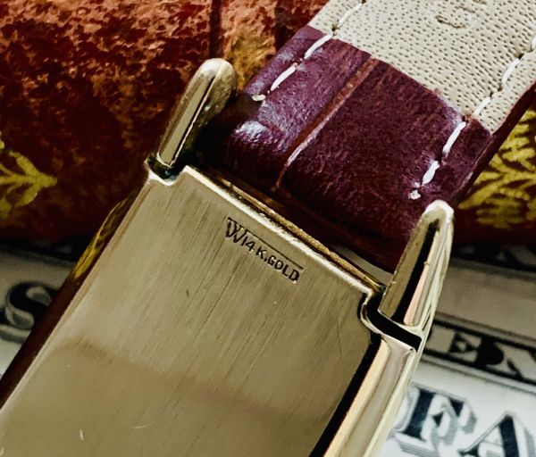 ◆GRUEN◆/グリュエン/CURVEX/14K/◎金無垢/カーベックス/1930's/アンティーク/手巻き/メンズ/腕時計/レクタンギュラー/ビンテージ_画像5