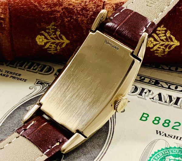 ◆GRUEN◆/グリュエン/CURVEX/14K/◎金無垢/カーベックス/1930's/アンティーク/手巻き/メンズ/腕時計/レクタンギュラー/ビンテージ_画像4