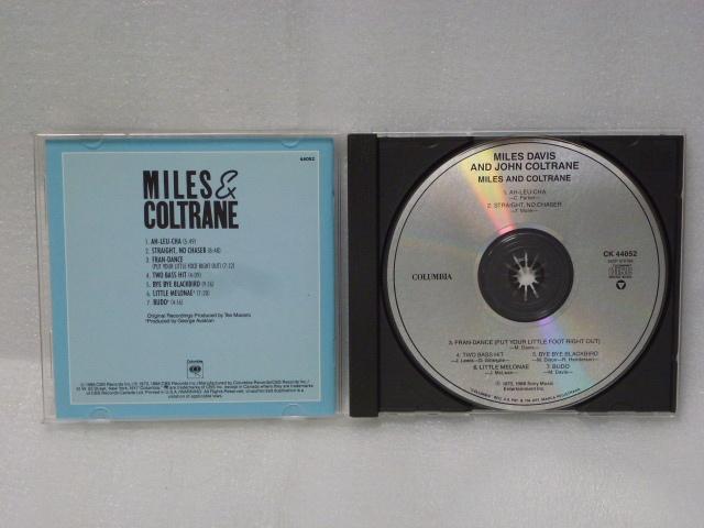 """◆米盤 jazz CD/MILES DAVIS AND JOHN COLTRANE-""""MILES AND COLTRANE""""◆マイルス・デイヴィス&ジョン・コルトレーン◆_画像2"""