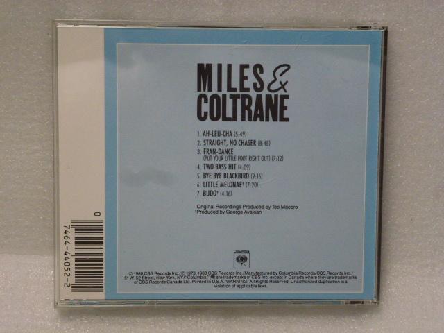 """◆米盤 jazz CD/MILES DAVIS AND JOHN COLTRANE-""""MILES AND COLTRANE""""◆マイルス・デイヴィス&ジョン・コルトレーン◆_画像3"""