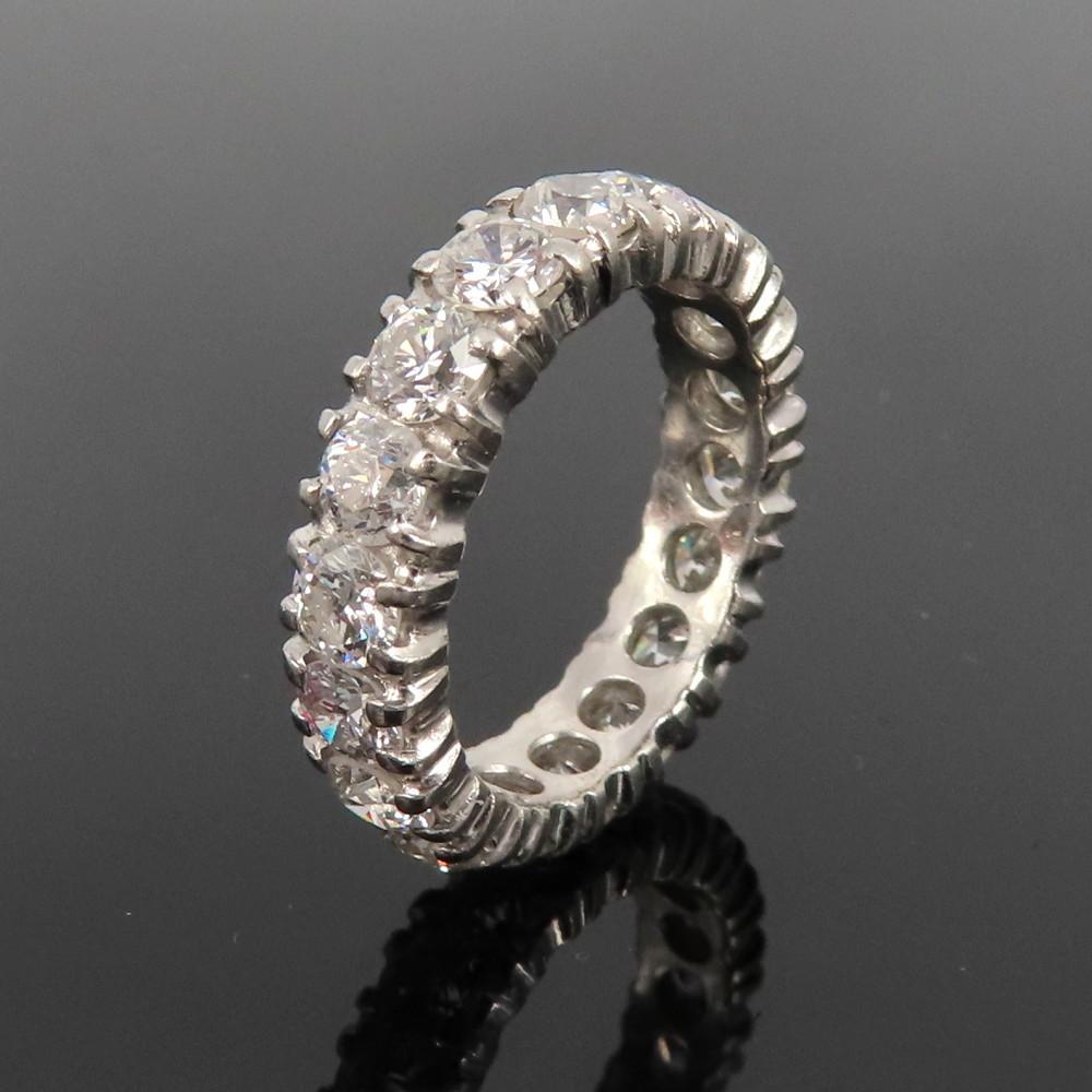 ◆ヴィンテージ◆美品◆《3.50ct ダイヤモンド》【プラチナ】《指輪 エタニティ リング》_画像2