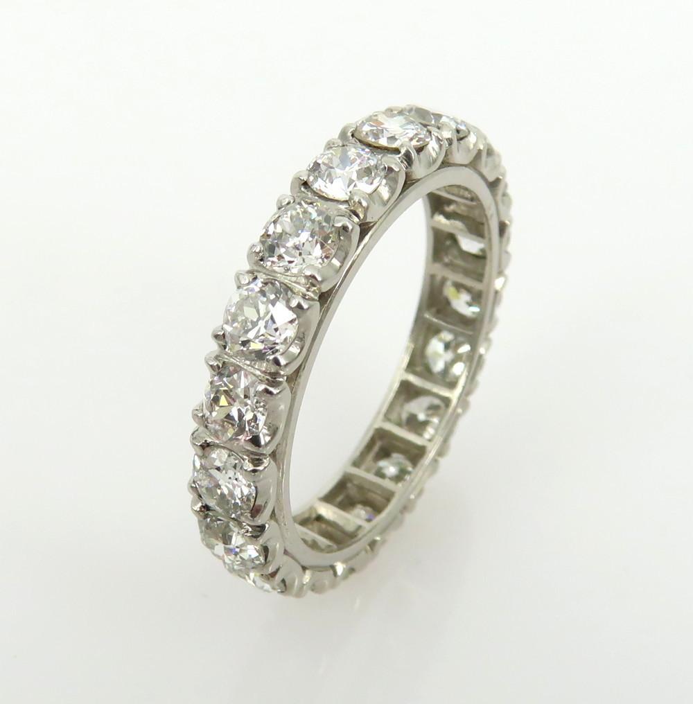 ◆アンティーク◆貴重◆《3.0ct オールドマインカット ダイヤモンド》【プラチナ】《指輪 エタニティ リング》_画像5