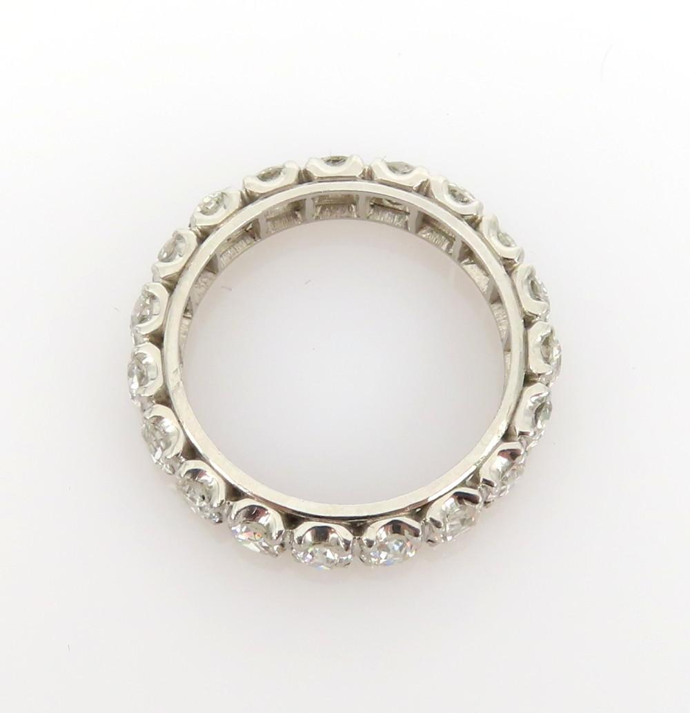◆アンティーク◆貴重◆《3.0ct オールドマインカット ダイヤモンド》【プラチナ】《指輪 エタニティ リング》_画像6