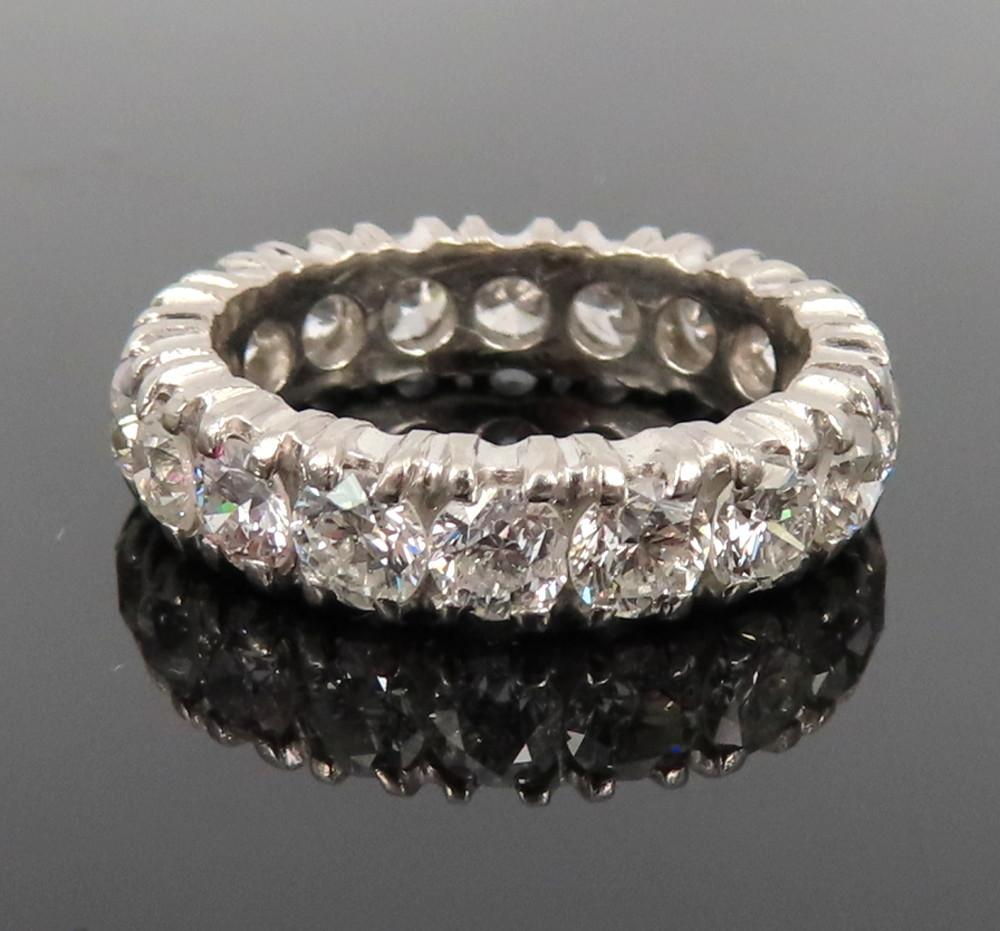 ◆ヴィンテージ◆美品◆《3.50ct ダイヤモンド》【プラチナ】《指輪 エタニティ リング》_画像1
