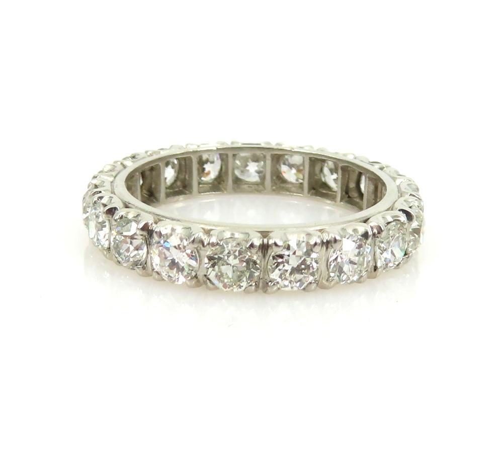 ◆アンティーク◆貴重◆《3.0ct オールドマインカット ダイヤモンド》【プラチナ】《指輪 エタニティ リング》_画像4