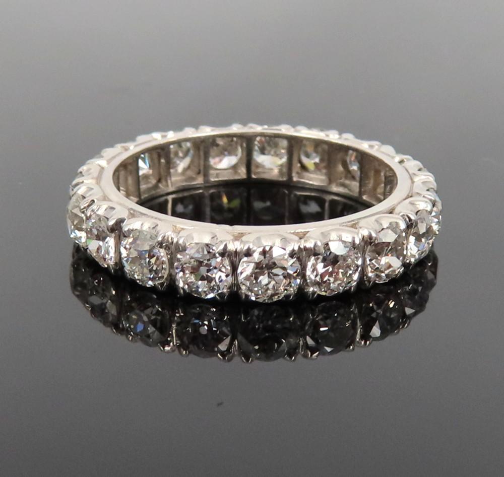 ◆アンティーク◆貴重◆《3.0ct オールドマインカット ダイヤモンド》【プラチナ】《指輪 エタニティ リング》_画像1