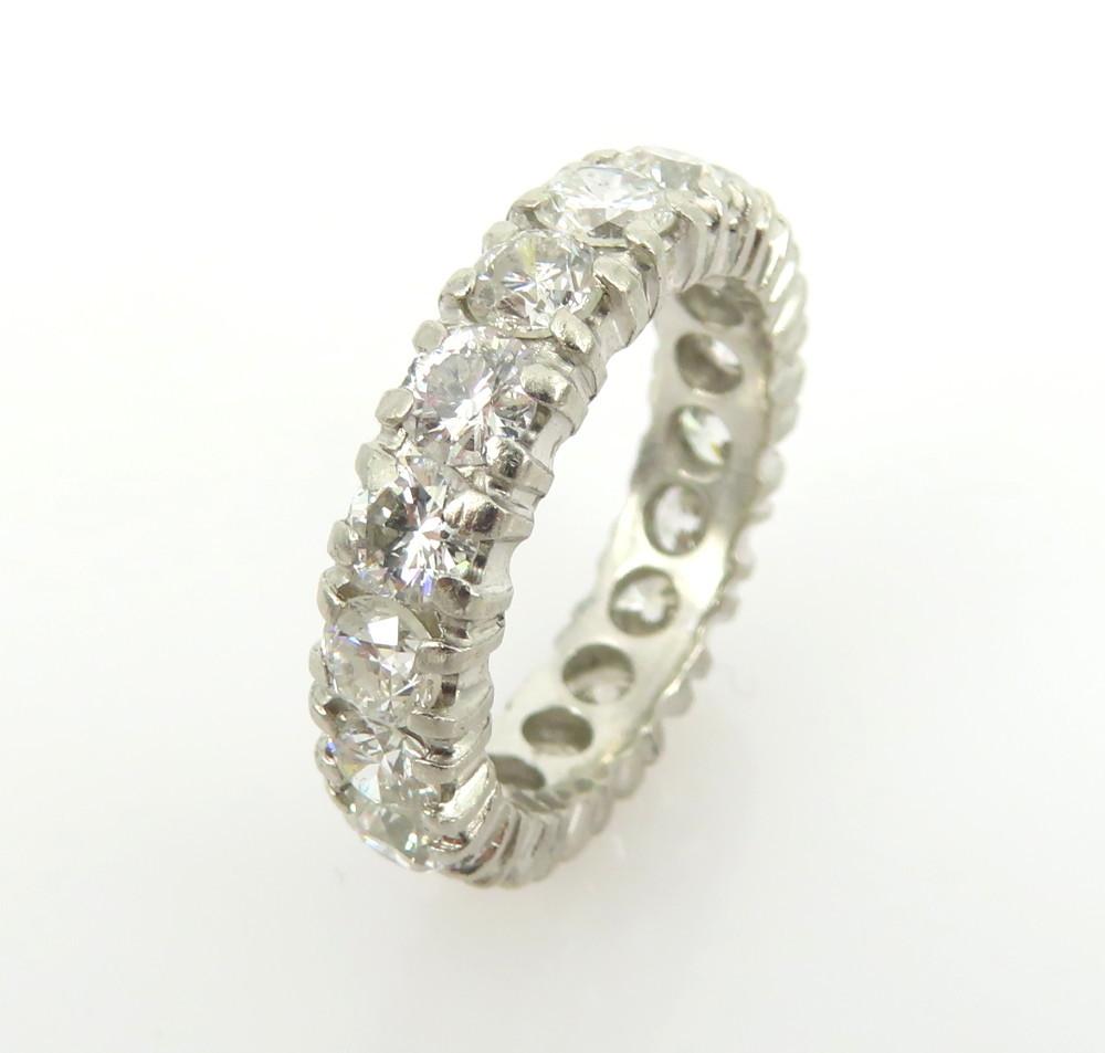 ◆ヴィンテージ◆美品◆《3.50ct ダイヤモンド》【プラチナ】《指輪 エタニティ リング》_画像5