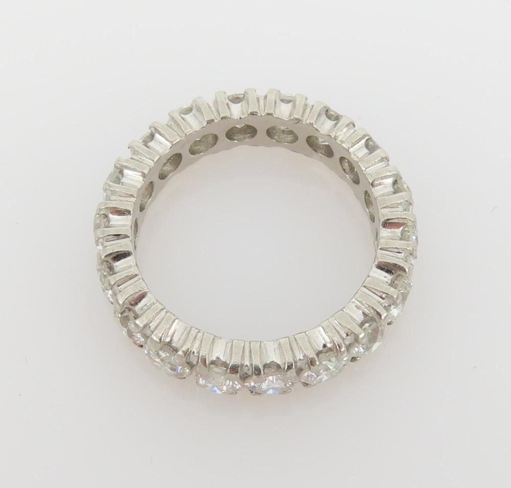 ◆ヴィンテージ◆美品◆《3.50ct ダイヤモンド》【プラチナ】《指輪 エタニティ リング》_画像6