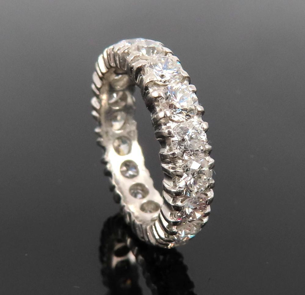 ◆ヴィンテージ◆美品◆《3.50ct ダイヤモンド》【プラチナ】《指輪 エタニティ リング》_画像3