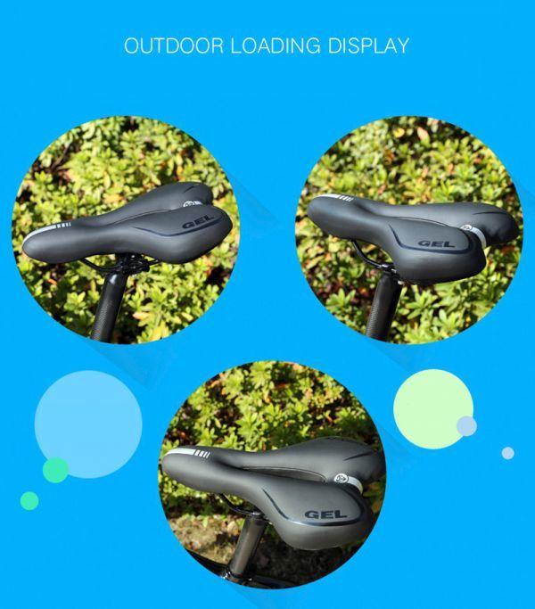 自転車サドル ゲル反射衝撃吸収 PVC 生地ソフト Mtb サイクリング マウンテンバイクシート 自転車アクセサリー_画像5