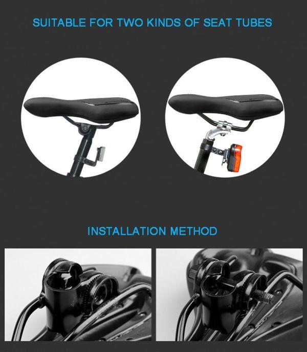 自転車サドル ゲル反射衝撃吸収 PVC 生地ソフト Mtb サイクリング マウンテンバイクシート 自転車アクセサリー_画像7