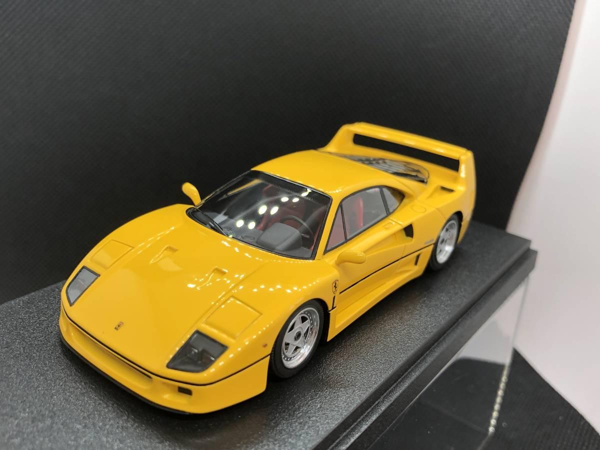 メイクアップ アイドロン FERRARI F40 Street 1988 Yellow 1/43 Make up 窓浮きあり