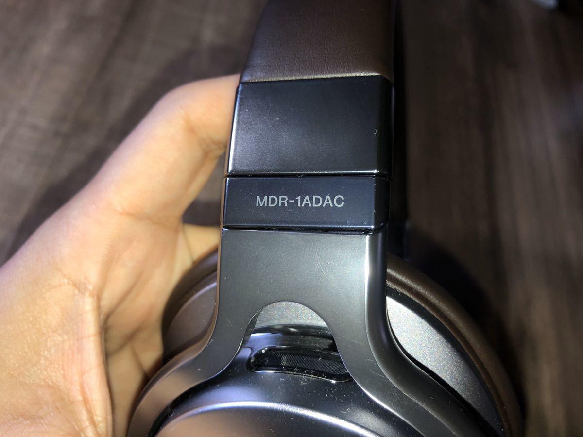ソニー ヘッドホン MDR-1ADAC ハイレゾ対応 USB DAC搭載 密閉型 折りたたみ式 ケーブル着脱式SONY iphone シルバー_画像2
