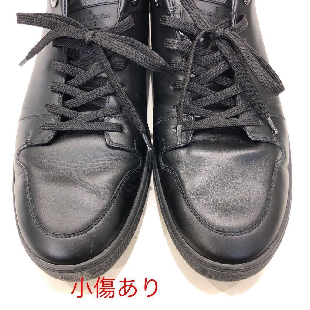 【LOUIS VUITTON】ローカットスニーカー ルイヴィトン ラインアップ ライン ダミエグラフィット レザー 靴 ブラック 黒 9 ts202109_画像7