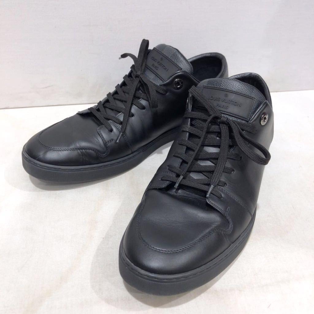 【LOUIS VUITTON】ローカットスニーカー ルイヴィトン ラインアップ ライン ダミエグラフィット レザー 靴 ブラック 黒 9 ts202109_画像1