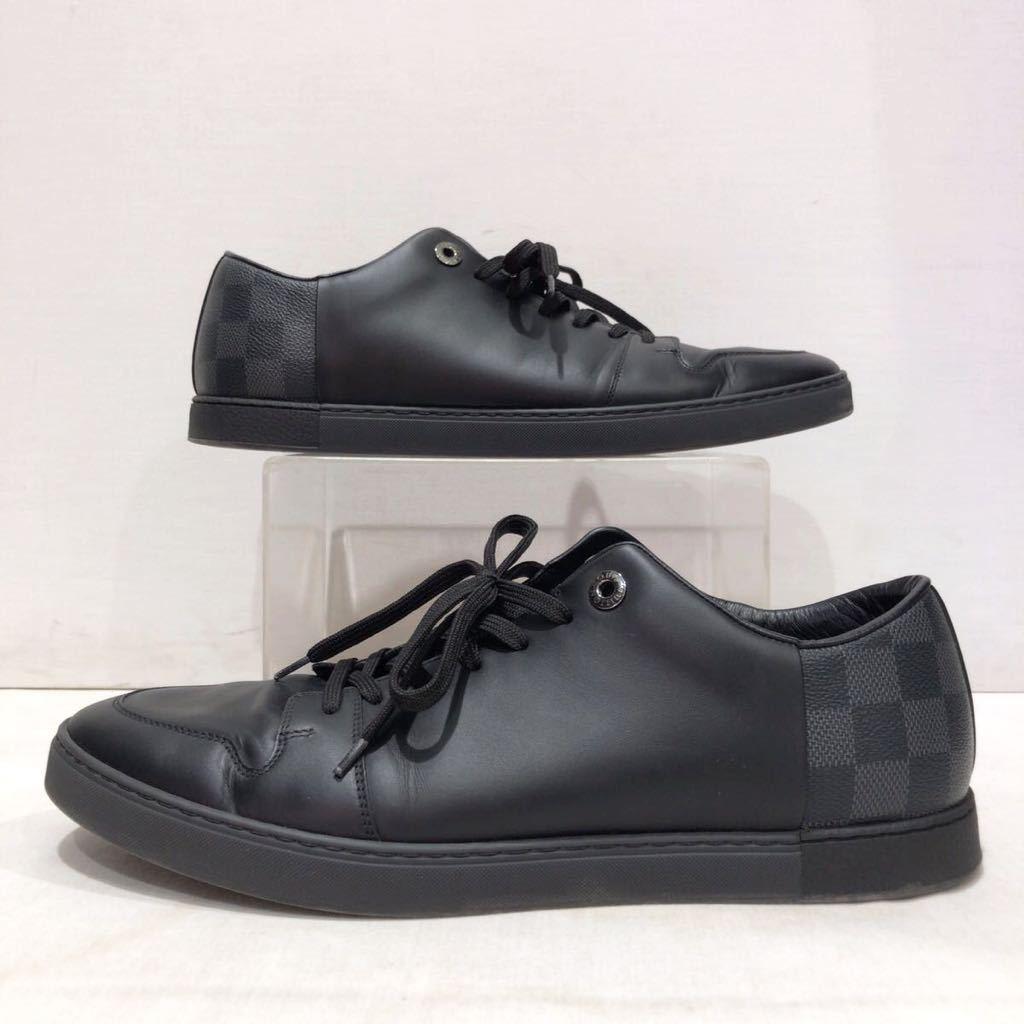 【LOUIS VUITTON】ローカットスニーカー ルイヴィトン ラインアップ ライン ダミエグラフィット レザー 靴 ブラック 黒 9 ts202109_画像4